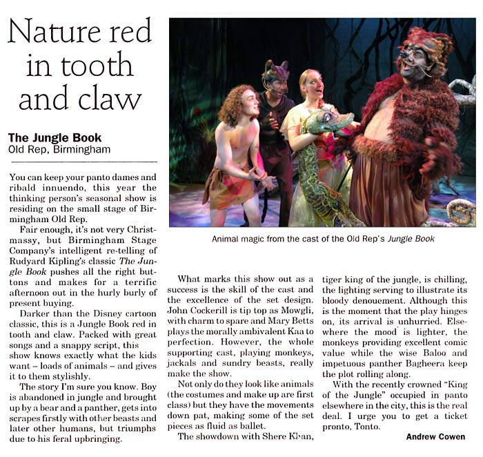 Jungle Book | Productions | Birmingham Stage Company